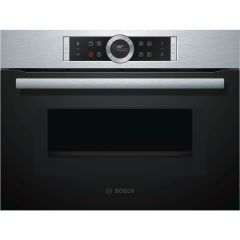 Bosch CMG633BS1B Compact 45cm Oven with Microwave