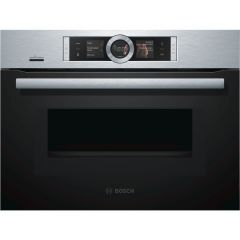 Bosch CMG676BS6B Compact 45cm Oven with Microwave