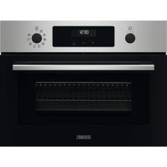 Zanussi ZVENM6X2 Compact multifunction oven with Microwave. 9 oven functions, Medium glass fascia, R